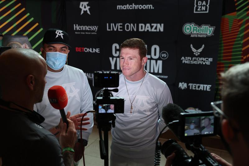 Boxing: Saul Alvarez and Avni Yildirim Media Arrival