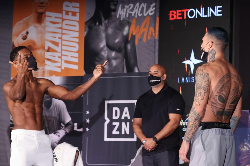 Boxing: Daniel Jacobs vs Gabriel Rosado Weigh-In